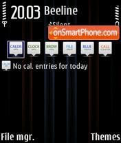Neon Blue theme screenshot