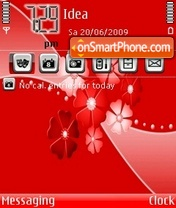Orange Abstract Flower theme screenshot