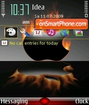 Mac on fire tema screenshot