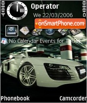 Audi R8 White theme screenshot