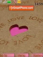 Pink Heart 06 es el tema de pantalla