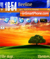 Sunset 3 theme screenshot