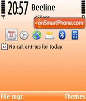 In The Orange theme screenshot