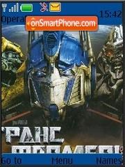 Transformers tema screenshot