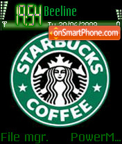 Скриншот темы Starbucks Coffee