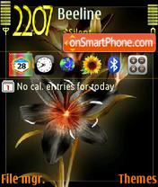 Скриншот темы Dark Flower