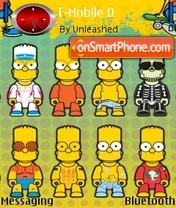 Скриншот темы Bart Simpson 04