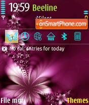 Butterfly Purple theme screenshot