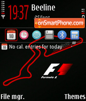 Formula 1 MI theme screenshot