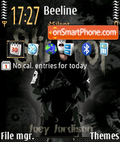 Joey Jordison theme screenshot
