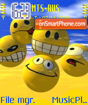 Smiley Gang theme screenshot