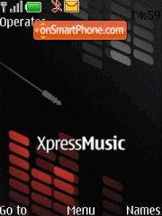 Nokia XpressMusic theme screenshot