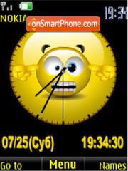 SWF crazy clock animated tema screenshot