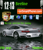 Animated Porsche theme screenshot