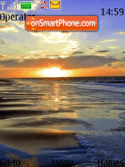 Скриншот темы Ocean Sunset