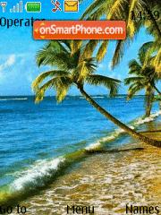 Beach of the Sea theme screenshot