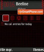 Скриншот темы Red Luminence