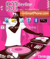 Capture d'écran Pink DJ Roky thème