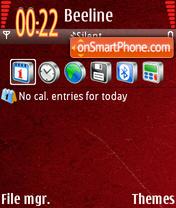 Скриншот темы Obama Red