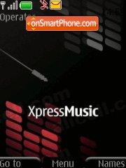 Xpress Music Skin theme screenshot