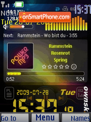 MP3 Power SWF Clock theme screenshot