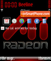 ATI Radeon theme screenshot