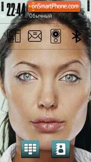 Angelina Jolie 11 theme screenshot