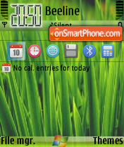 Green Windows 01 theme screenshot