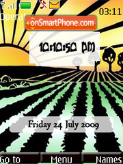 Agriculture SWF Clock Theme-Screenshot