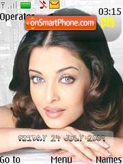 Aishwarya Rai T2 swf clock theme screenshot
