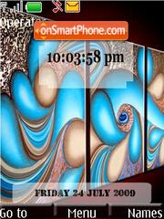 Artistic Series 2 SWF Clock es el tema de pantalla