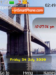 Bridges SWF Clock theme screenshot
