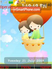 Children's Day SWF Clock theme screenshot