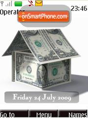 Скриншот темы Currency House SWF Clock