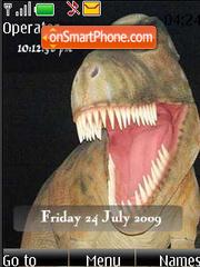 Скриншот темы Dinosaur SWF Clock