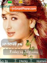 Скриншот темы Kareena Kapoor SWF Clock