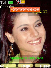 Kajol SWF Clock theme screenshot