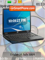 Lap Top SWF Clock es el tema de pantalla