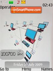 Network SWF Clock theme screenshot