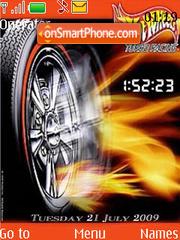Need For Speed SWF Clock es el tema de pantalla