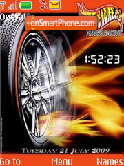 Need For Speed SWF Clock theme screenshot