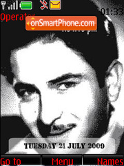 Raj Kapoor SWF Clock theme screenshot