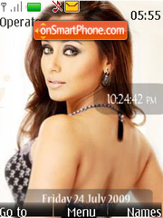 Rani Mukherji SWF Clock theme screenshot