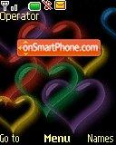 Colorfull Hearts tema screenshot