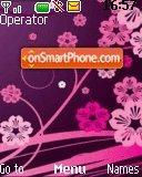 Floral-violet theme screenshot