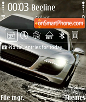 Audi R8 theme screenshot