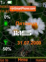 Swf flower and spider theme screenshot