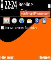 Скриншот темы Orange Wave