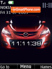 SWF Mazda clock animated theme screenshot