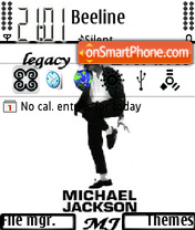 Michael Jackson 09 theme screenshot